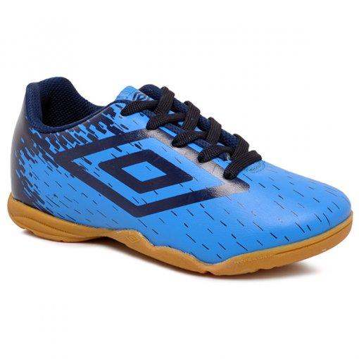 4f7f2e6323 Tênis Futsal Infantil Umbro Acid OF82048 Azul Azul Marinho
