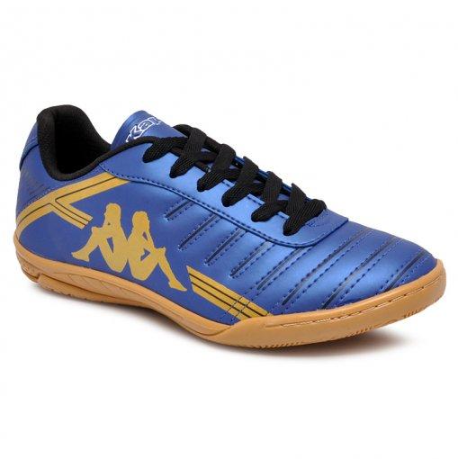Tênis Futsal Kappa Quarter 2 8310 Azul Marinho/Ouro