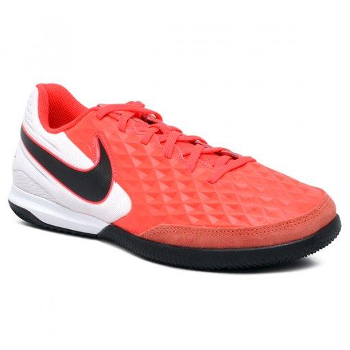 Tênis Futsal Nike Legend 8 Academy AT6099-606 Couro Rosa Pink/Branco