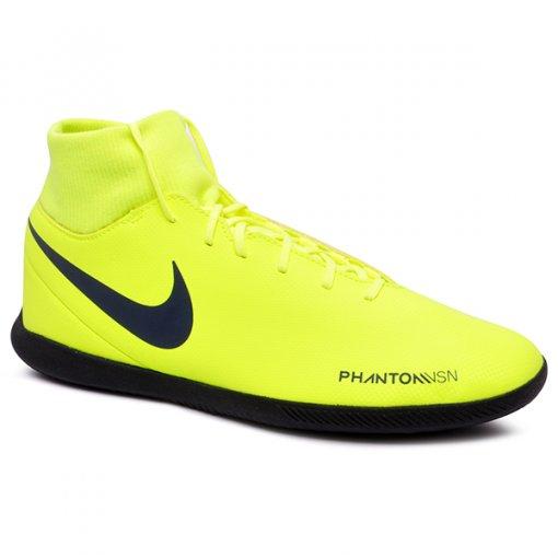 Tênis Futsal Nike Phanton Vsn Club DF AO3271-717 Amarelo Neon