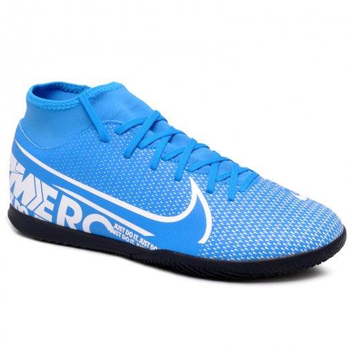 Tênis Futsal Nike Superfly 7 Club AT7979-414 Azul/Branco