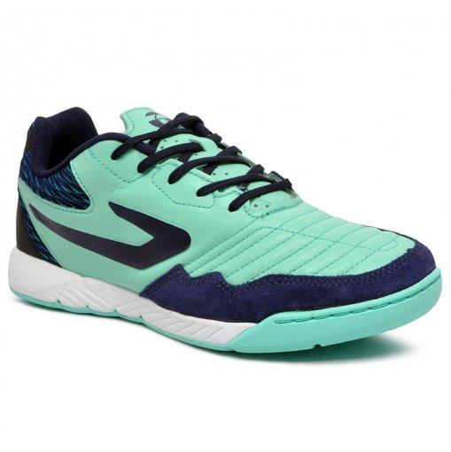 Tênis Futsal Topper Dominator 2 Pro 4203661 Verde/Azul Marinho