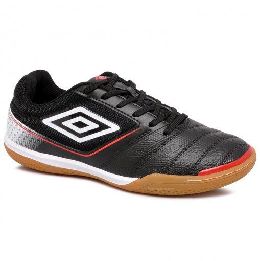 Tênis Futsal Umbro Match OF72128 Preto/Branco/Vermelho