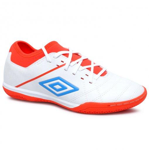 Tênis Futsal Umbro Medusae 3 Club OF72130 Branco/Laranja/Azul