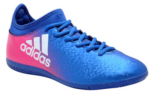 Tênis Indoor Adidas X 16.3 Bb5678 Azul//Rosa Pink