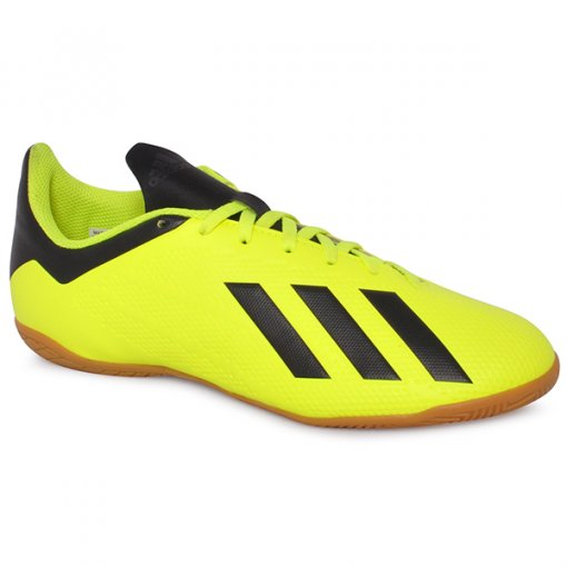 Tênis Indoor Adidas X Tango 18.4 DB2484 Amarelo/Preto/Branco