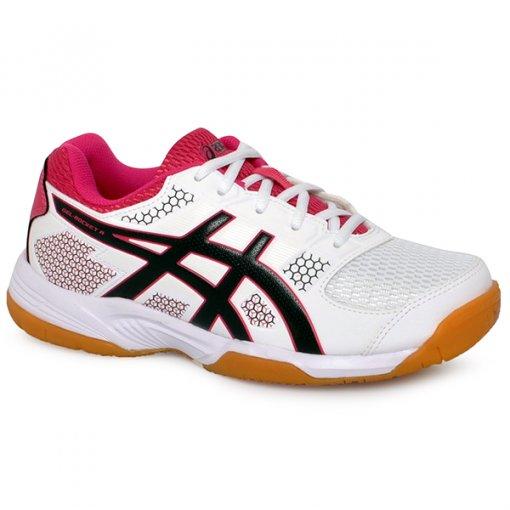 a04e7ad3702 Tênis Indoor Asics Gel-Rocket 8a Branco Preto Rosa
