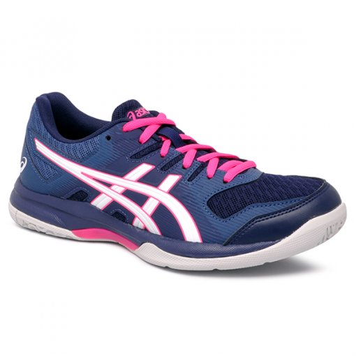 Tenis Indoor Asics Gel-Rocket 9 Marinho/Pink