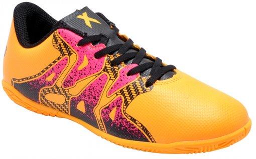 Tênis Indoor Infantil Masculino Adidas X 15.4 S74605 Gold/Black