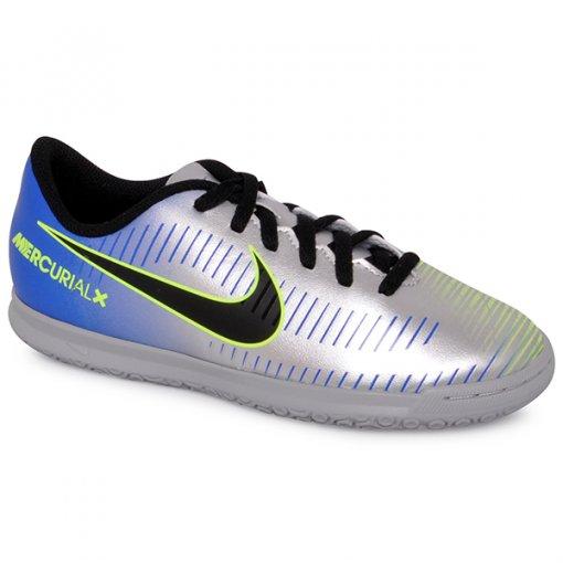 Tênis Indoor Infantil Nike Mercurialx Vrtx3 NJ 921495-407 Azul/Preto/Cinza