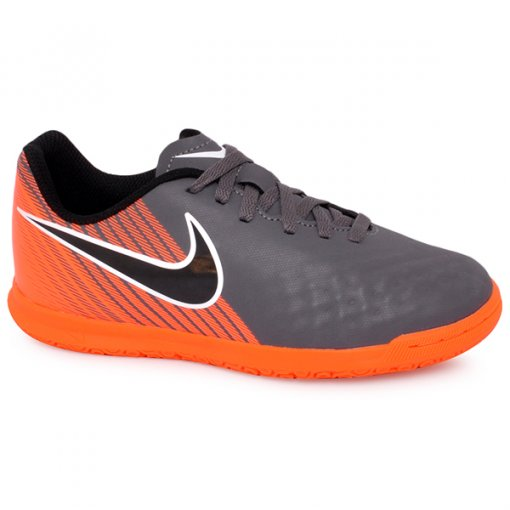 Tênis Indoor Infantil Nike Obrax2 Club Ah7316-080 Cinza/Laranja