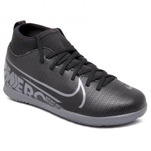 Tênis Indoor Infantil Nike Superfly 7 Club AT8153-001 Preto/Cinza