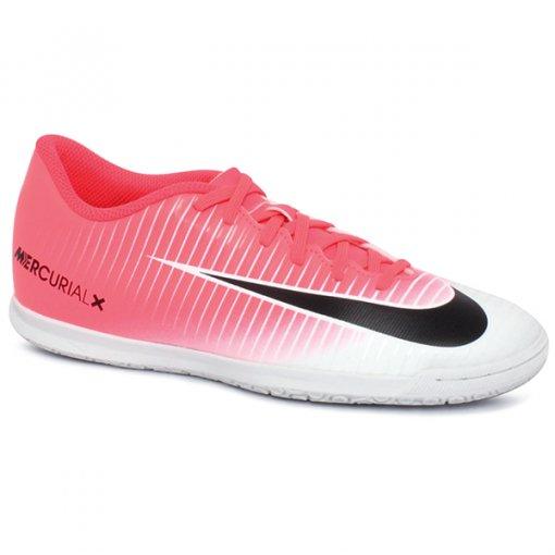 Tênis Indoor Nike Mercurial Vortex Rosa Pink/Preto/Branco