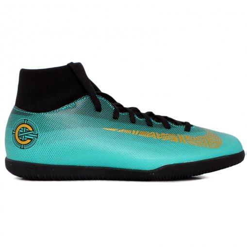 Tênis Indoor Nike Superfly CR7 AJ3569-390 Verde/Preto