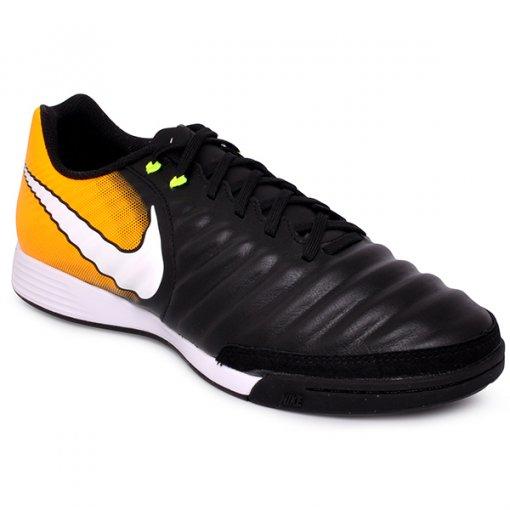 Tênis Indoor Nike Tiempox Ligera Iv 897765-008 Preto/Laranja