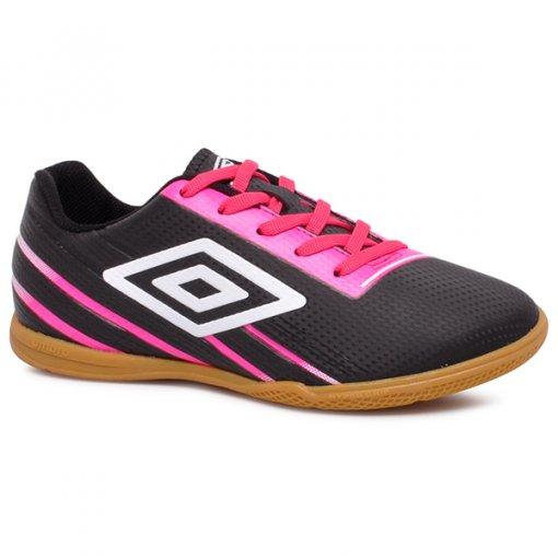 Tênis Futsal Umbro Light Control OF72135 Preto/Rosa/Branco