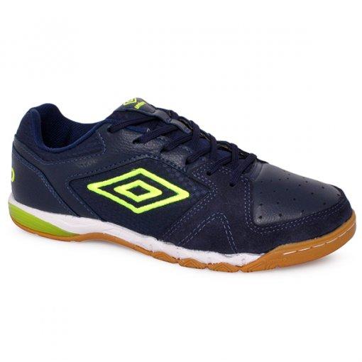 Tênis Indoor Umbro Pro 3 OF72056 Azul Marinho/Verde/Branco