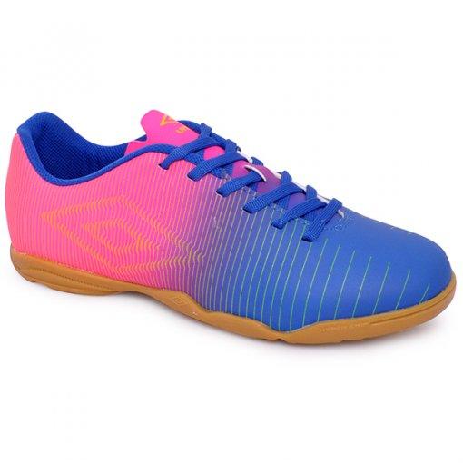 Tênis Indoor Umbro Vibe Of72086 Azul/Rosa/Verde