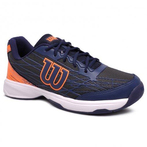 Tênis Indoor Wilson Slice WRB702681 Azul Marinho/Laranja
