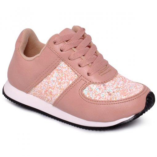 Tênis Infantil Feminino Molekinha 2507100 Multi Branco/Rosa