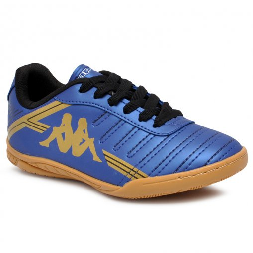Tênis Infantil Futsal Kappa Quarter 2 8310 Azul Marinho/Ouro