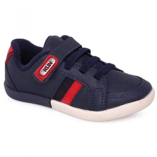 Tênis Infantil Klin 117076 Azul Marinho/Vermelho