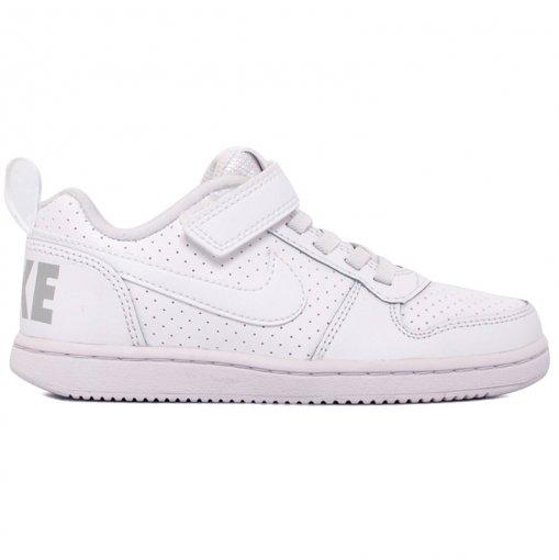 Tênis Infantil Nike Court Borough Low 870025-100 Branco