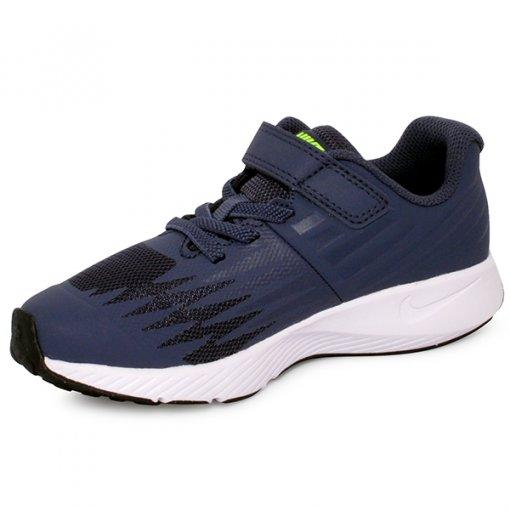 Tênis Infantil Nike Star Runner 921443-404 Azul Marinho/Branco