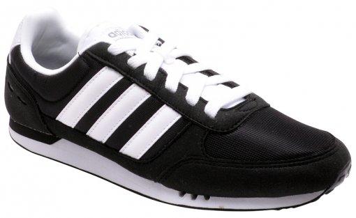 Tênis Masculino Adidas Neo City Racer F99329 Black/White