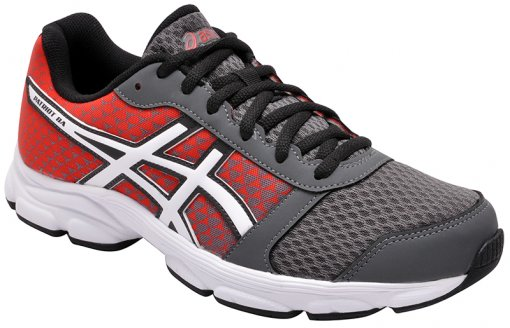 Tênis Masculino Asics Patriot 8a Charcoal/White/Red