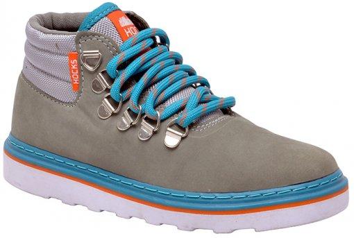 Tênis Masculino Hocks R2903 Valley Grey/Orange