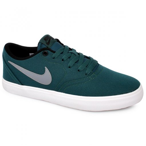 Tênis Nike Sb Check Solar Cnvs 843896-300 Verde/Cinza