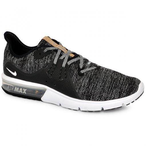 Tênis Nike Air Max Sequent 3 921694-011 Preto/Branco/Cinza