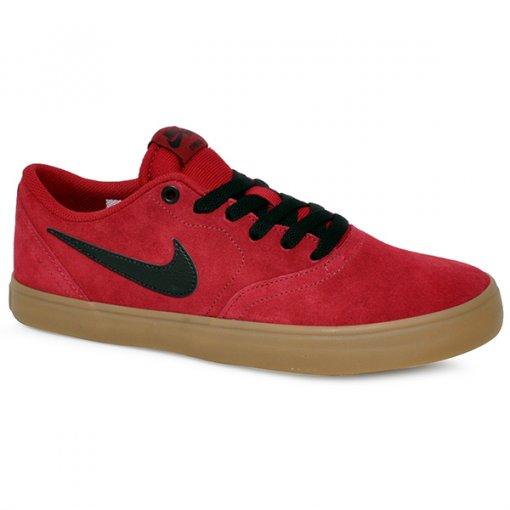 cdd781dddc0fd Tênis Nike Sb Check Solar 843895-601 Vermelho Preto