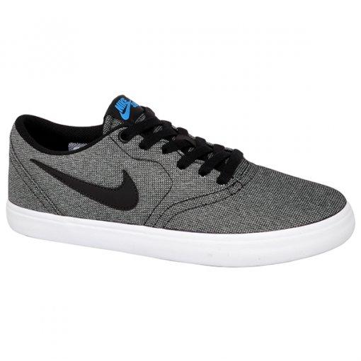 Tênis Nike Sb Check Solar Cnvs 843896-004 Preto/Azul/Branco
