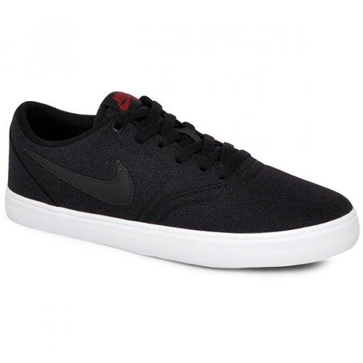 Tênis Nike Sb Check Solar Cnvs 843896-007 Preto/Preto/Vermelho