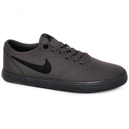 Tênis Nike Sb Check Solar Cnvs 843896-008 Cinza