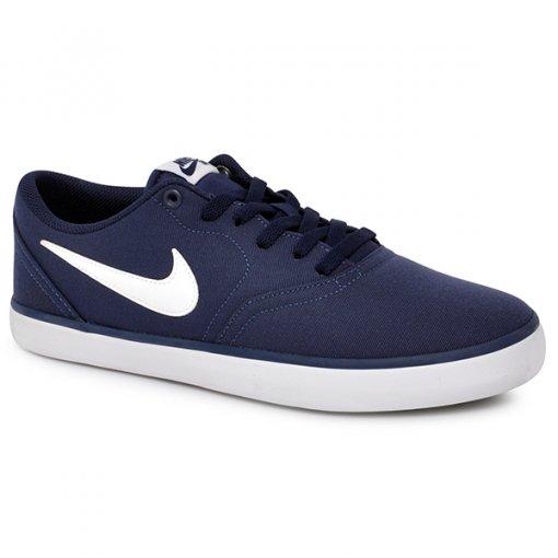 Tênis Nike Sb Check Solar Cnvs 843896-400 Azul Marinho/Branco