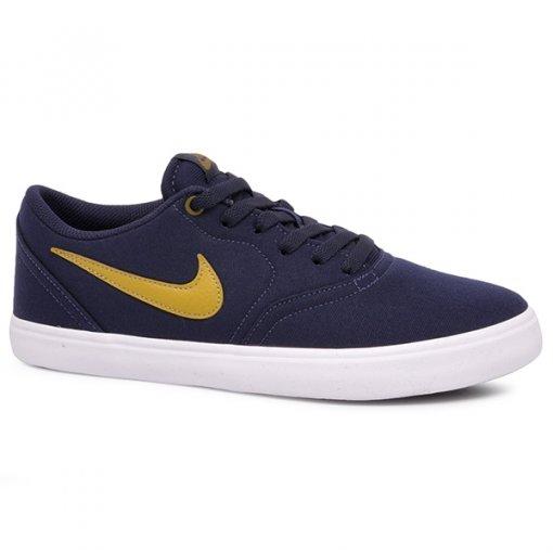 Tênis Nike Sb Check Solar CNVS 843896-403 Azul Marinho/Verde