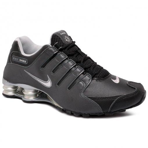 Tênis Nike Shox Nzeu 501524-024 Preto/Cinza