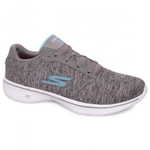 0fa069bddd Tênis Skechers Go Walk 4 Gow-14173 Cinza/Azul