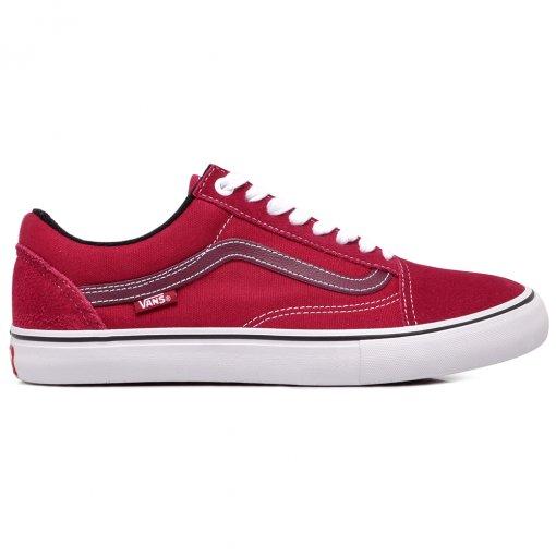 Tênis Vans Old Skool Pro VNBA45JCVG4 Vermelho/Branco