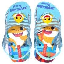 Imagem -  Chinelo Infantil Baby Shark Masculino Grendene 26564 Azul