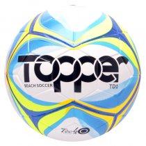 Imagem - Bola Beach Soccer Topper TD1 Branco/Azul/Amarelo