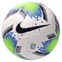 Imagem - Bola Brasileirão Nike Strike 2020 SC3940-100 Futebol Campo Branco/Verde/Azul