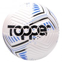 Imagem - Bola Futebol Campo Topper Hawk Branco/Azul/Preto