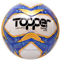Imagem - Bola Campo Topper Samba Pro 3213 Branco/Laranja/Azul - 240863