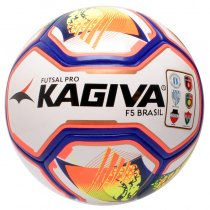 Imagem - Bola Futsal Kagiva F5 Pro 2019 89 Branco/Amarelo/Vermelho - 240862