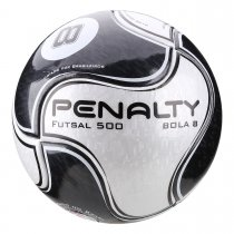 Imagem - Bola Futsal Penalty 8 IX 5415511110 Branco/Preto - 237676