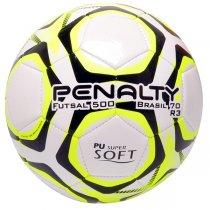 Imagem - Bola Futsal Penalty Brasil 70 R3 IX 5113111810 Branco/Amarelo/Preto - 235156